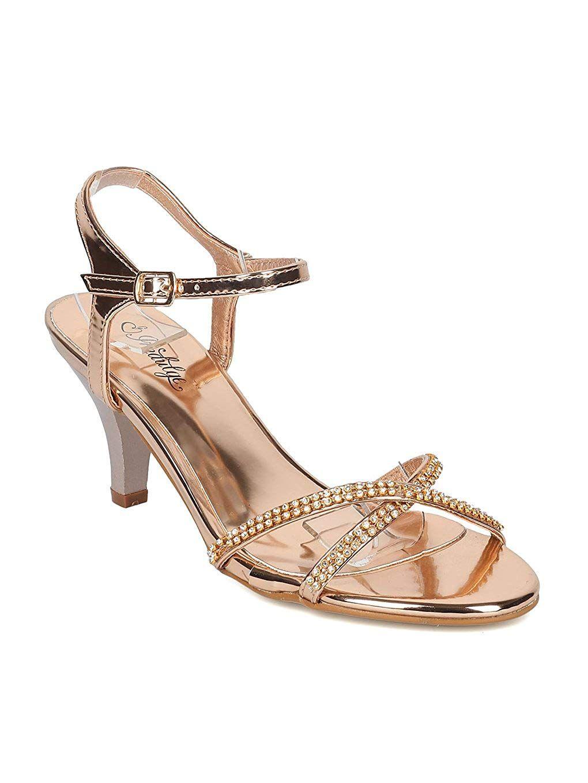 e5f233f1ce Indulge GAGA Women Metallic Leatherette Rhinestone Ankle Strap Kitten Heel  Sandal HB95 -- Hope you like the photo. (This is our affiliate link) # ...