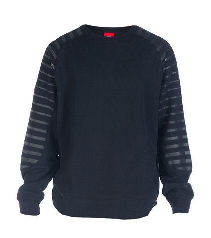 NIKE Crew fleece sweatshirt Long sleeves Crew neck with ribbed ...