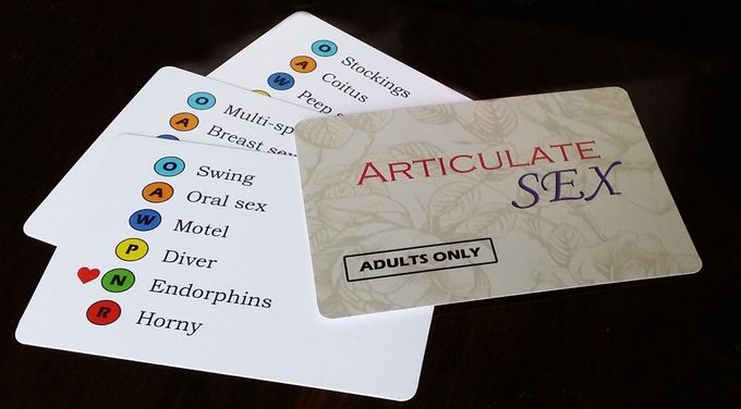 Articulate Sex game cards sample Gaming Pinterest - sample cards
