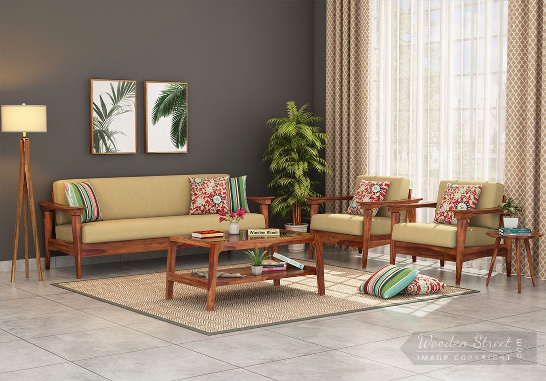 Buy Arch Wooden Sofa 3 1 1 Set Online In India Wooden Street In 2020 Living Room Sofa Design Colourful Living Room Decor Buddha Home Decor