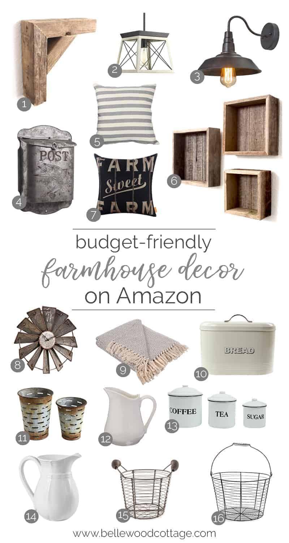 Budget-Friendly Farmhouse Decor on Amazon