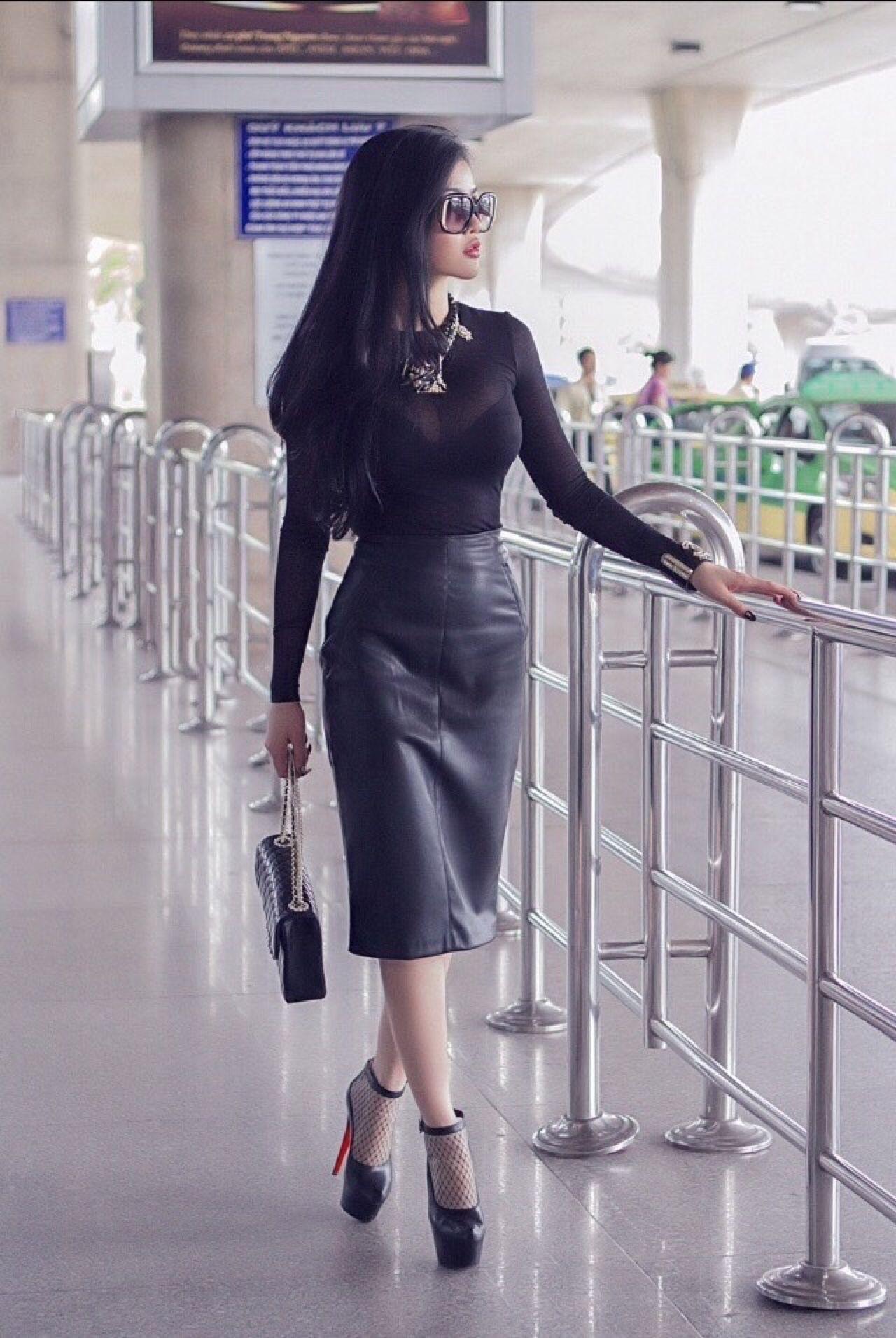 8fb7492c643f5 Pin on Leather fashions. | Fashion, Leather fashion, Leather skirt