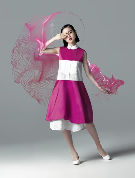 Isetan - Mitsukoshi Spring 2014 for their Hanabana-sai (flower festival) advertising campaign image. Cherry blossom, anyone?