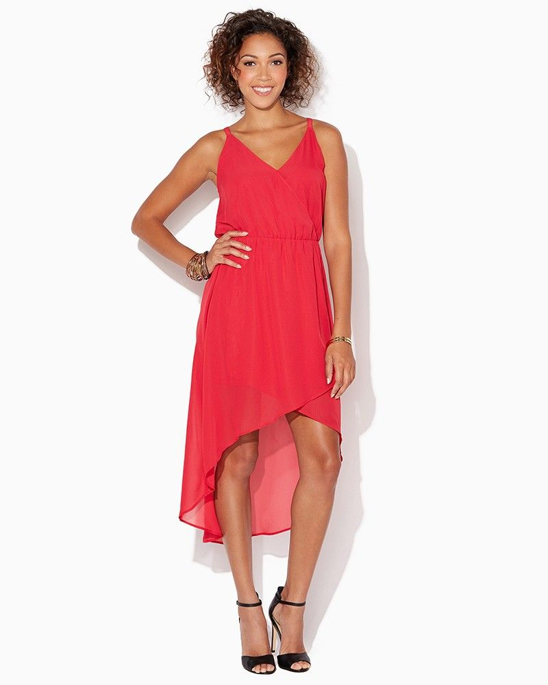 charming charlie | Rosemary High-Low Dress | UPC: 410006293182 #charmingcharlie