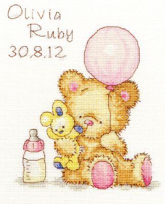 Huggles - Balloon Cross Stitch Kit by Bothy Threads