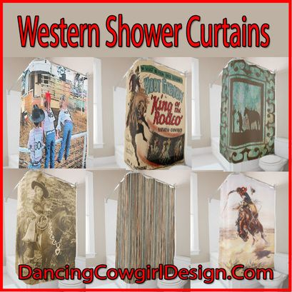 Western Shower Curtains Vintage Western Rodeo Barn Wood Print
