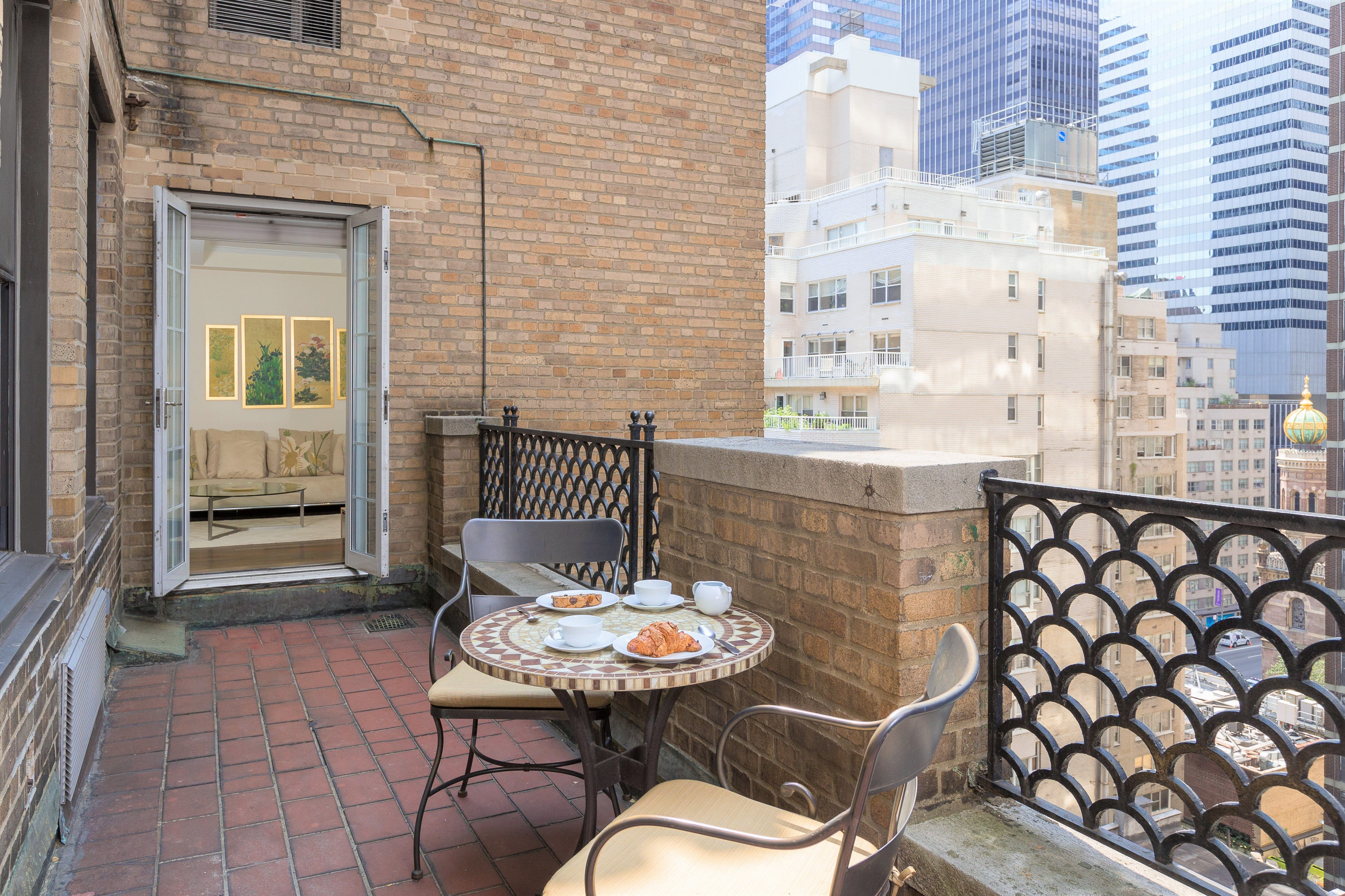 Outdoor Terrace Of A One Bedroom Suite In New York City Lombardy
