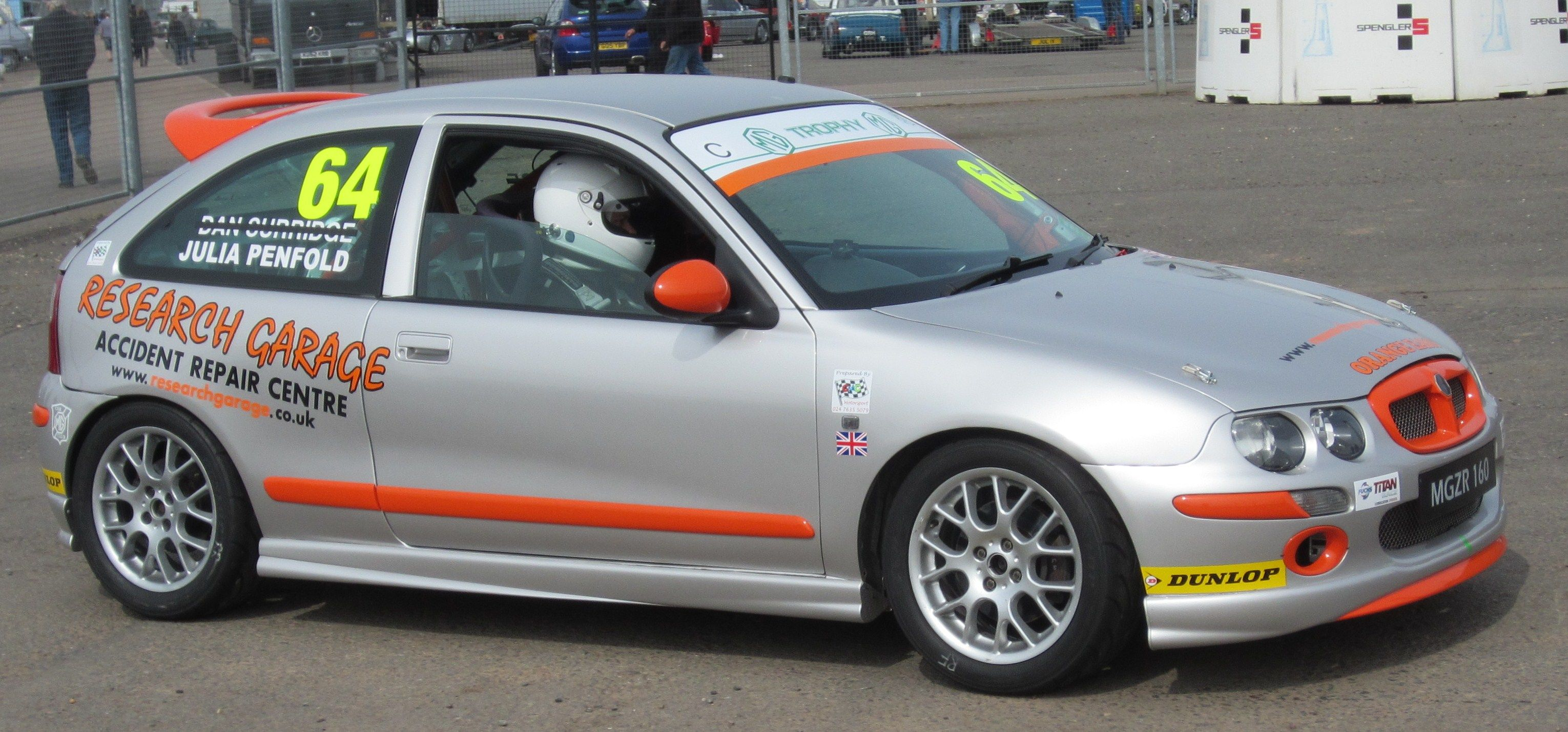 MG Trophy Championship, Donington Park, 7th April 2013.