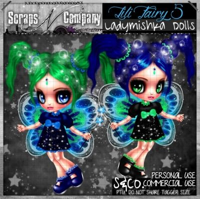 """""""LILI FAIRY 5 CU"""" by LadyMishka Dolls http://scrapsncompany.com/index.php?main_page=product_info&cPath=161&products_id=8367"""