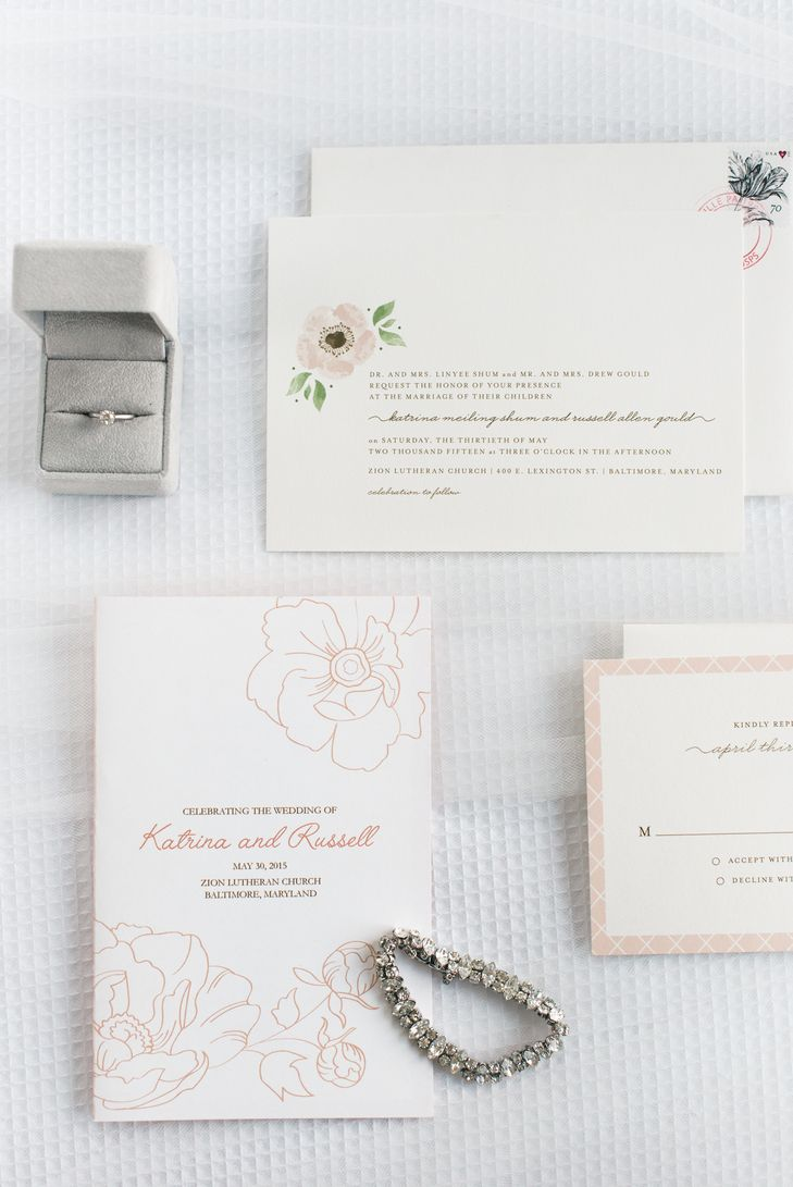 Romantic Minted Wedding Invitation With Anemones Minted https