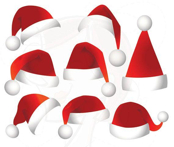 569997e0e4999 Santa Claus Hat SVG Clip Art - Christmas Santa Hat so easy to make ...