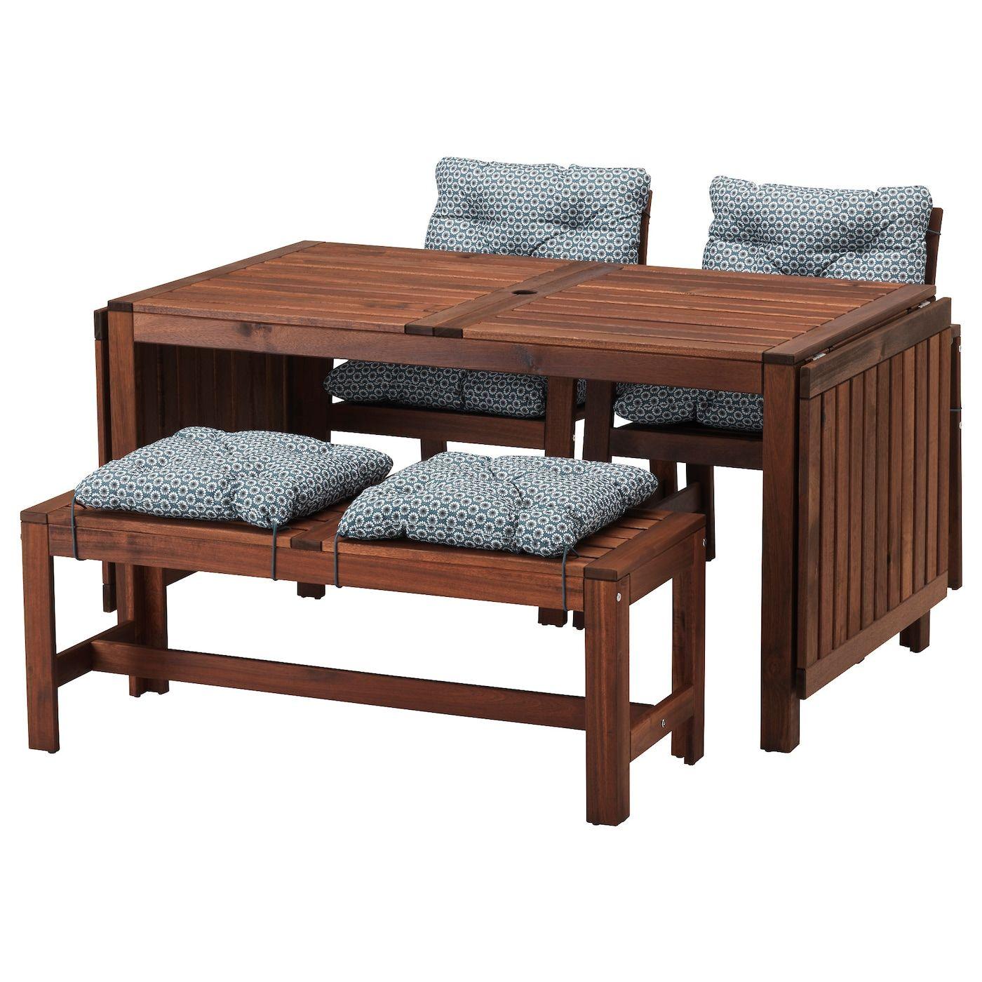Ikea Applaro Tisch 2 Armlehnstuhle Bank Aussen Braun Las Ytteron Blau Offnung Fur Sonnenschirm Outdoor Dining Furniture At Home Furniture Store Furniture [ 1400 x 1400 Pixel ]