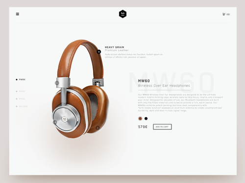 Webdesign - E-commerce & Product page
