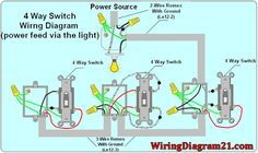 4 way light switch wiring diagram