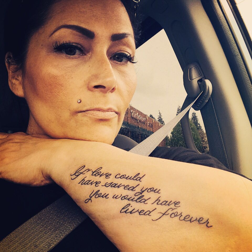 If love could have saved you you would have lived for Tattoo for dead brother