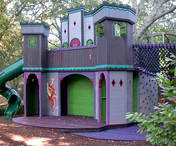 how to build a wooden castle playhouse
