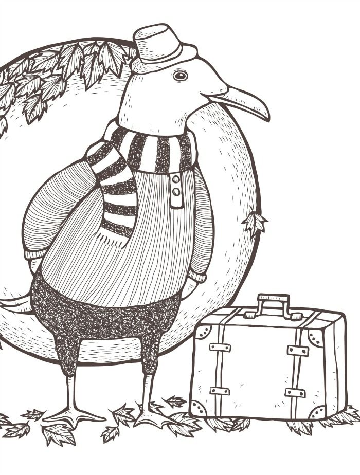 18 Absurdly Whimsical Adult Coloring Pages | Coloring - Animals ...