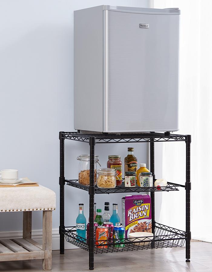 Suprima Double Height Fridge Stand In 2020 Dorm Room Diy Mini Fridge Stand Dorm Room