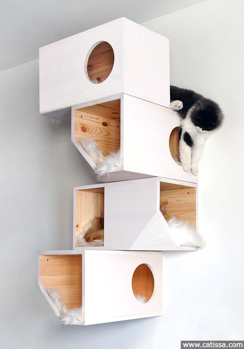 Catissa 4 Y Cat House We Create Cool Stuff For Cats Plans Pinterest Tree White And