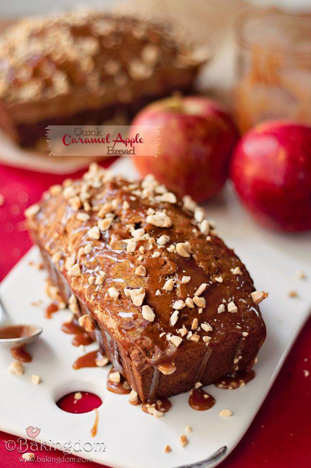 Caramel Apple Bread (doesn't this look amazing??) via @bakingdom