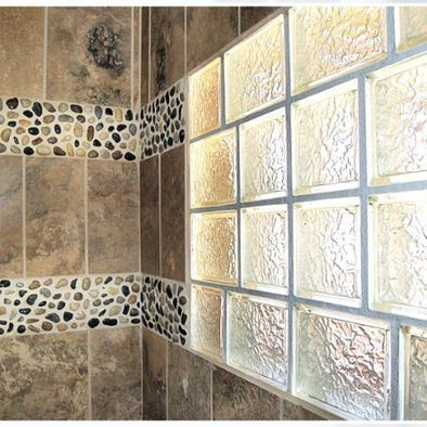 Glass block in shower design pictures remodel decor and for Glass block window design ideas