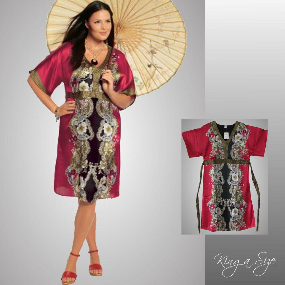 kleid / freizeitkleid / satinkleid / kimonoform satin