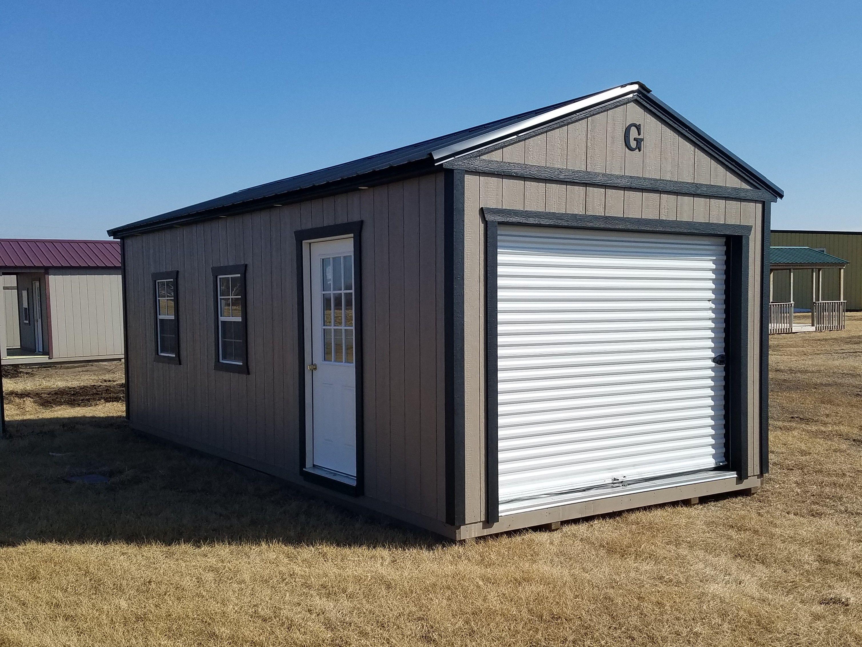 Best 12X24 Garage Built By Grandview Buildings Black Metal 640 x 480