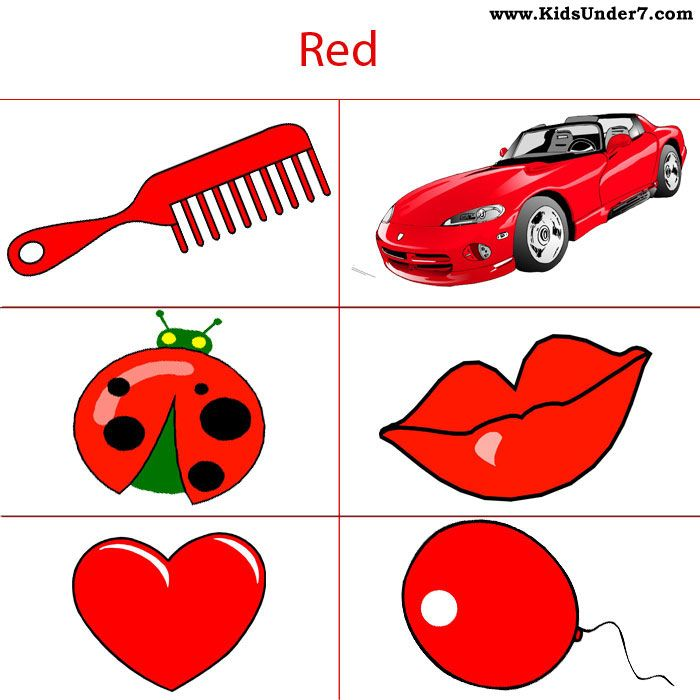 Red Objects For Kids