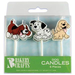 6 pc Puppy Dog Cake Candles...perfect for the little guy who wants a puppy party!