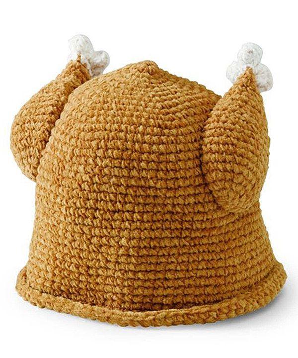 Look what I found on #zulily! Brown Knit Turkey Beanie by San Diego ...