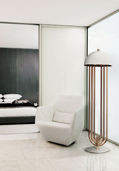 Turner Art Deco Floor Lamp With Images Floor Lamps Living Room Lamps Living Room Living Room Lighting