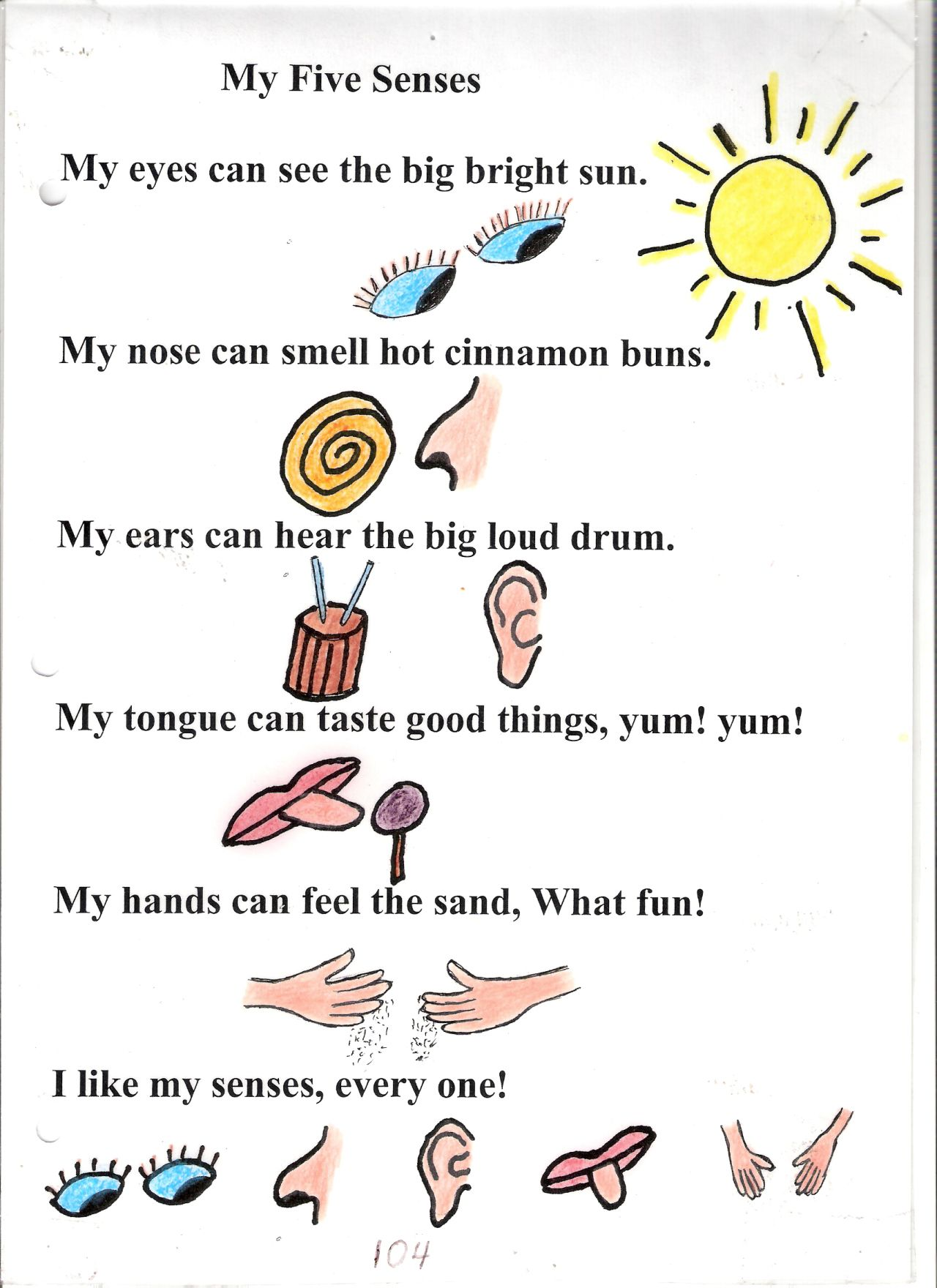 hight resolution of Poem no. 4: My Five Senses   My five senses