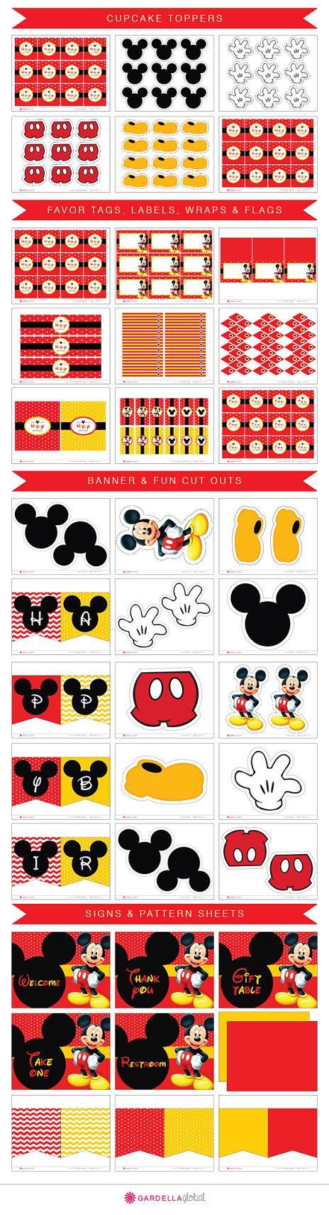 Mickey mouse birthday invitation - Mickey birthday - Baby Mickey ...
