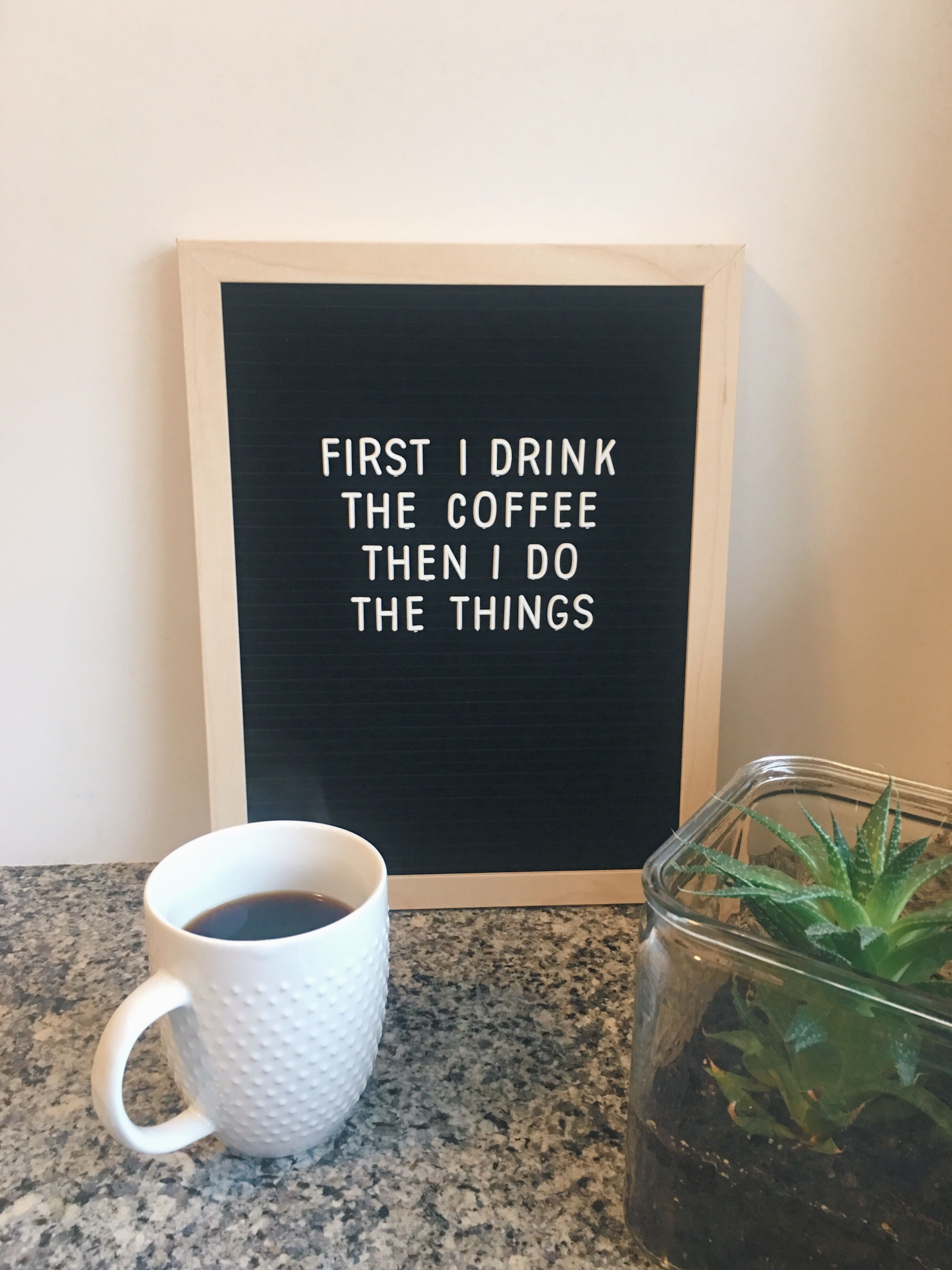 Letterboard Coffee Quotes Coffee Quotes Coffee Lover Letter Board