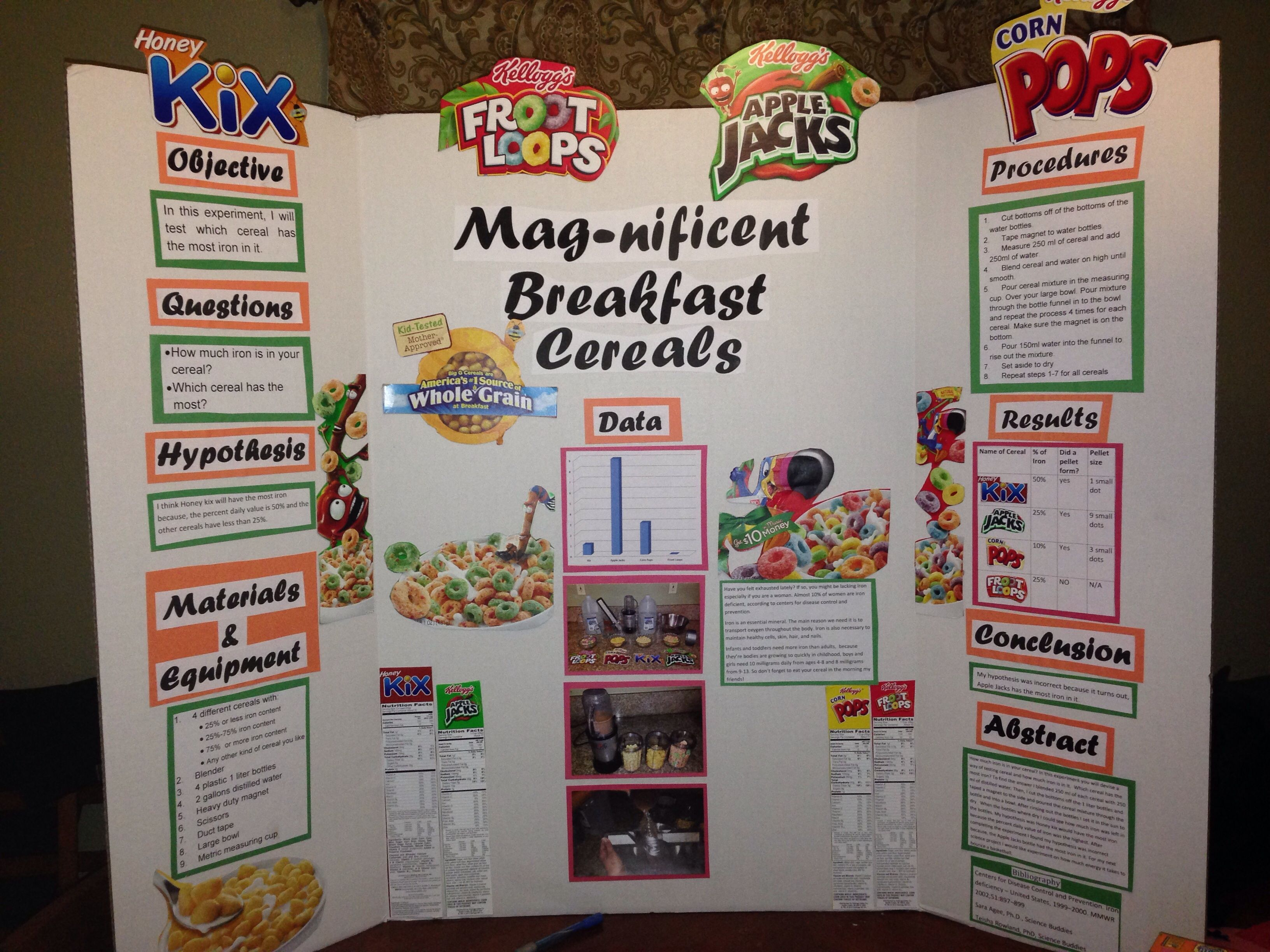 Mag-nificent Breakfast Cereal Science Projects