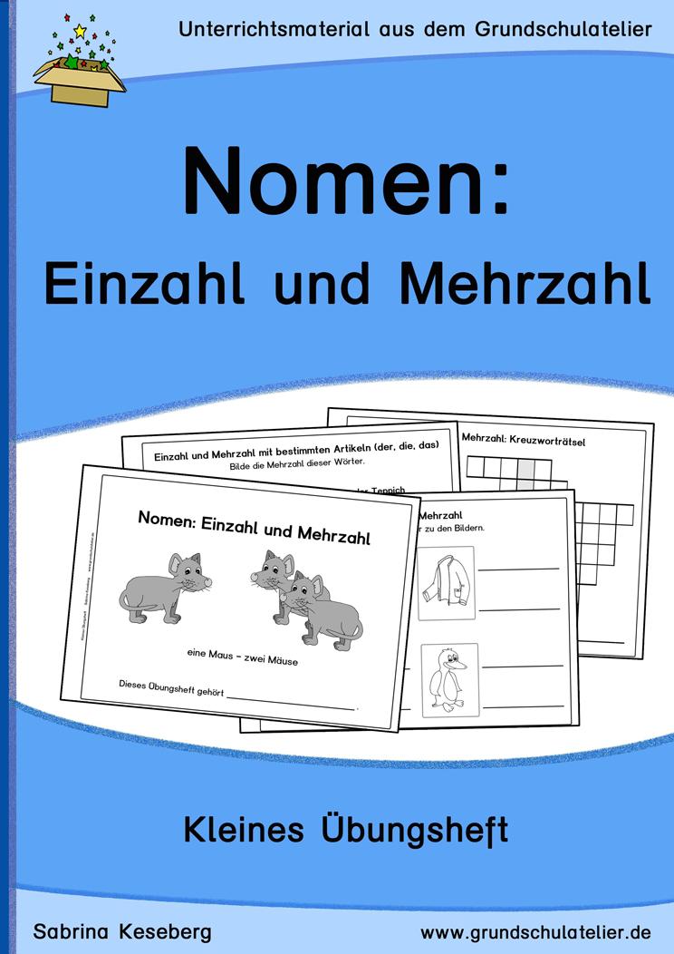 Nomen: Einzahl und Mehrzahl (Übungsheft) | iskola | Pinterest ...