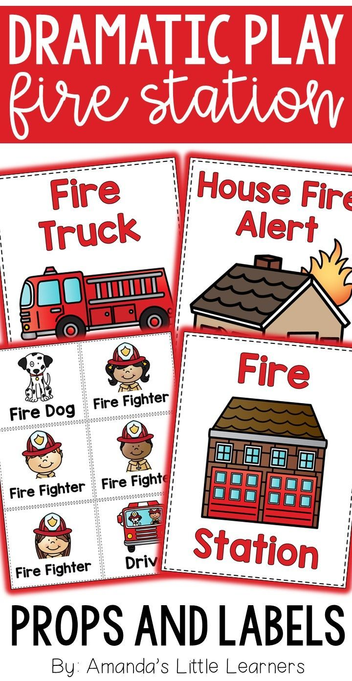 Dramatic Play Set Fire Fighter Station Dramatic Play Preschool Firefighter Dramatic Play Dramatic Play