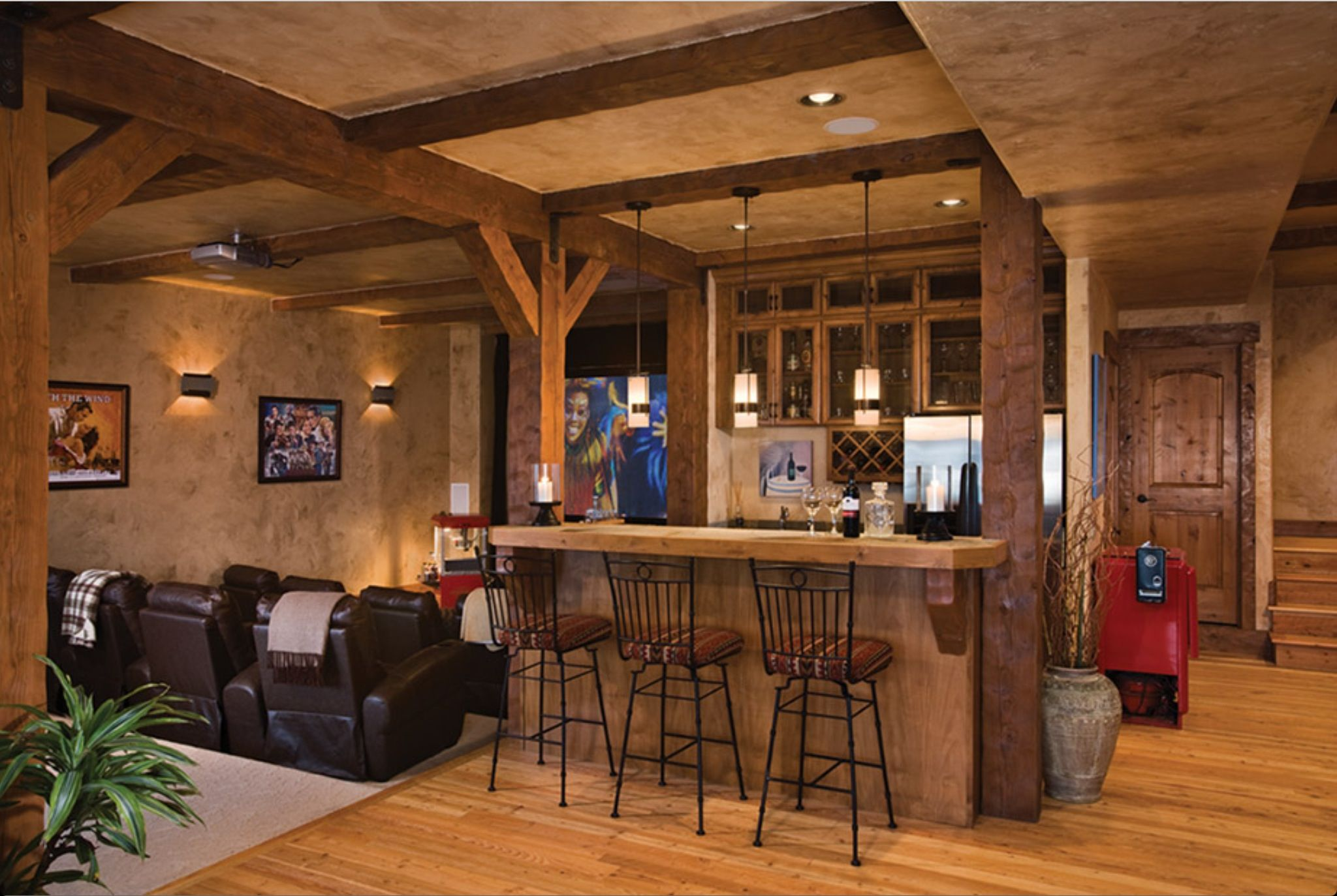 Rustic Basements Timber Frame Home  Basements Beams And Woods