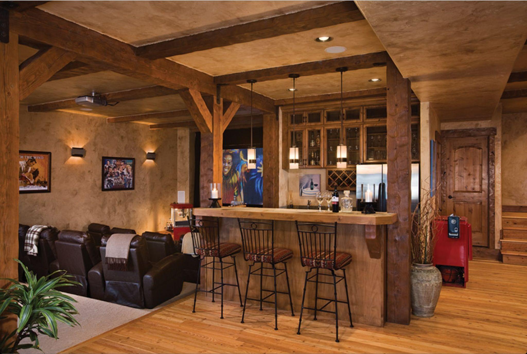 Timber Frame Home | Basement Ideas | Pinterest