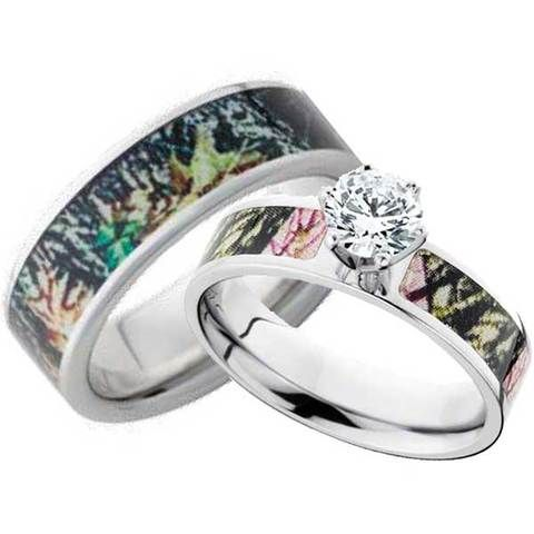 His and her camo rings Jewelry Pinterest Camo Ring and Camo