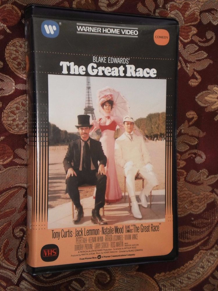 Blake Edwards THE GREAT RACE Tony Curtis Natalie Wood (1984, Warner) VHS