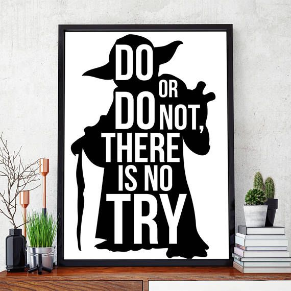 Yoda Jedi Quote Star Wars Do Or Do Not. There Is No