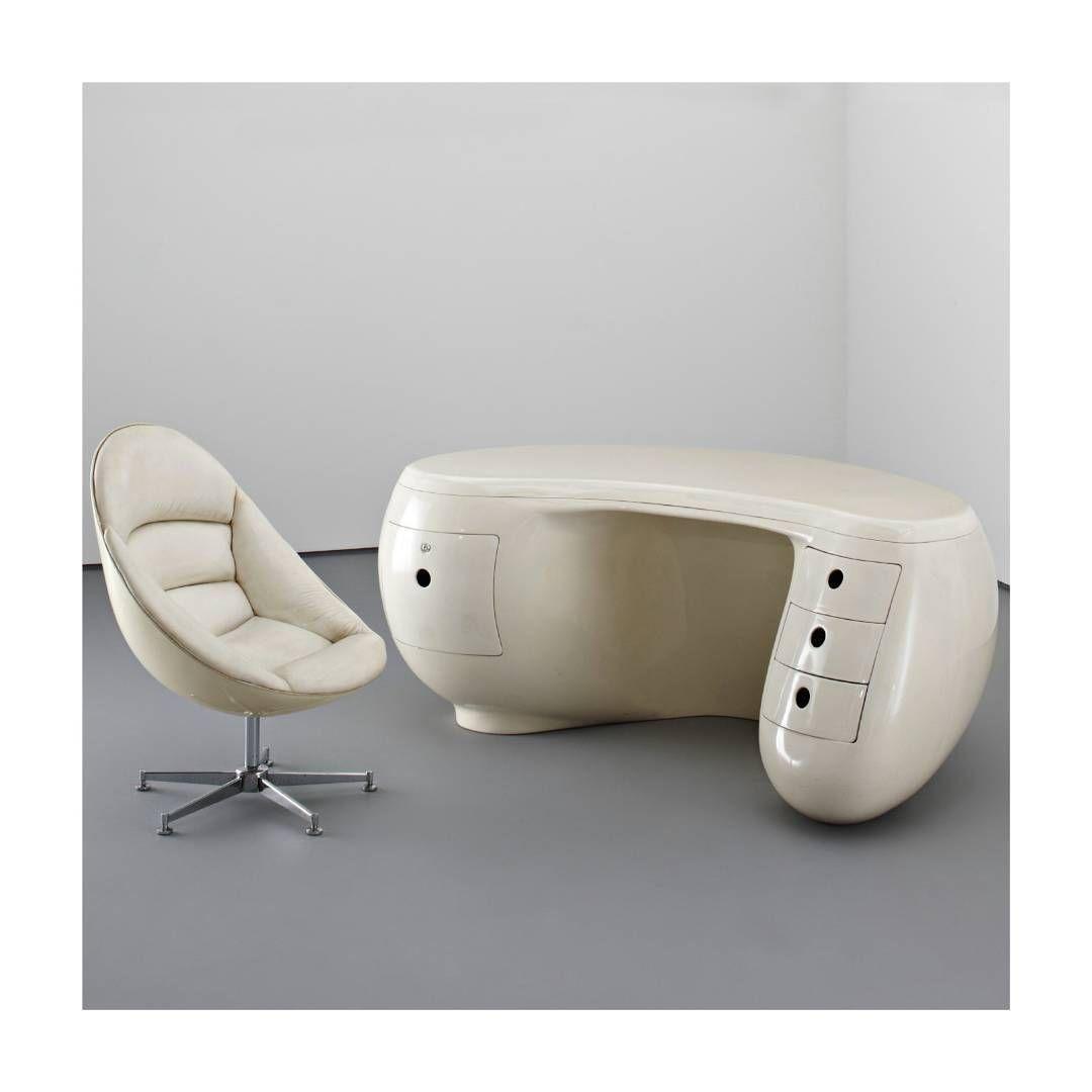 Boomerang Desk and Chair, Maurice Calka