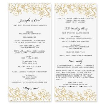Wedding Program Template Download by DiyWeddingTemplates on Etsy - wedding program template