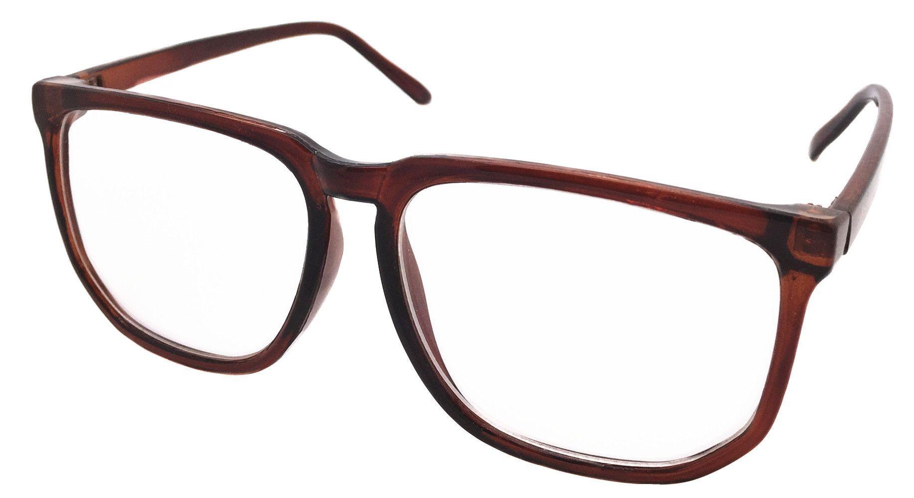 28853b0fb2896 Oversized Retro Vintage Inspired Classic Nerd Wayfarer Clear Lens Glasses  Frame Eyewear