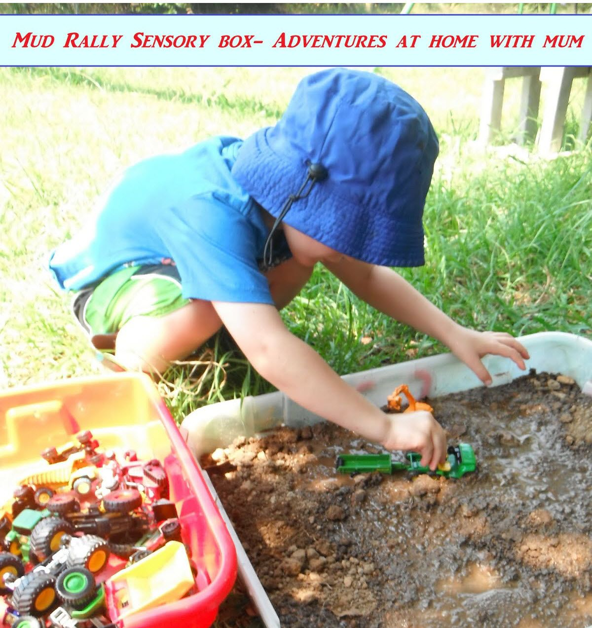 mud sensory bin rain rain come and play backyard adventures