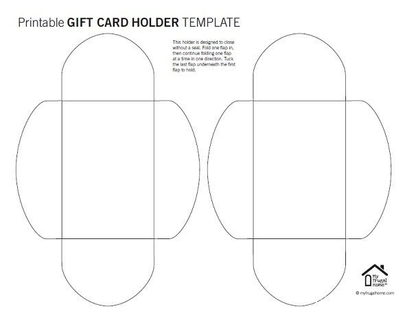 Printable Gift Card Holder Templates Gift Card Holder Template Gift Card Template Unique Gift Card Holder