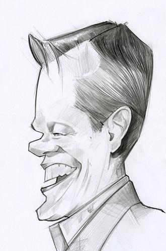 Matt Damon Artysta: Ken Coogan strona www: http://kencoogancaricatures.blogspot.com/