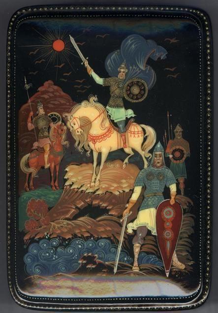 "Russian Kholui Lacquer Box ""Fairytale"" | eBay"
