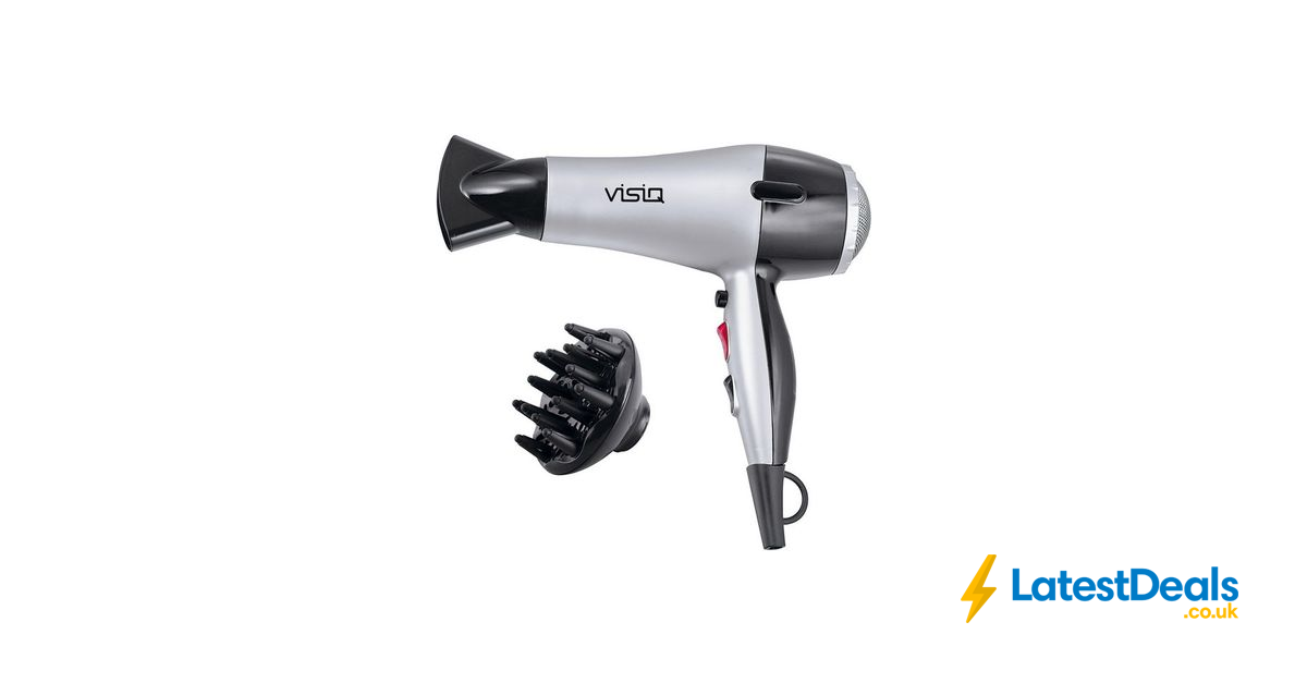 Visiq Diffuser Hair Dryer £6.07 with Code Free C&C at